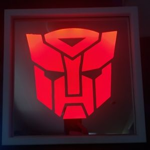 Autobots etched lighted mirror